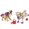 Kids Toy - Bloco Build A Friend Ponies - Animal Toy - Purple