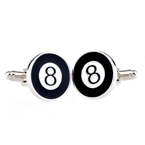 Cufflinks - Cufflink Suite Pool Ball Cuff Links - Black/White