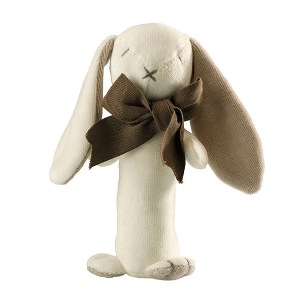 MaudnLil organic cotton ears the bunny stick rattle