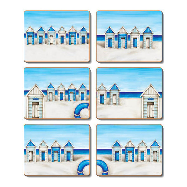 Capulet Seaside Beach Hut Coasters