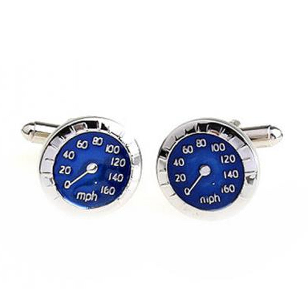 Cufflinks - Cufflink Suite Speedometer Cuff Links - Blue