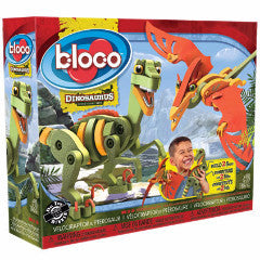 Bloco Velociraptor and Pterosaur