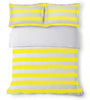 Aura Wide Stripe in Yellow Quilt Cover King Single Set