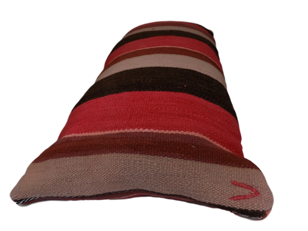Large Pink and Grey Striped Berber Moroccan Cushion