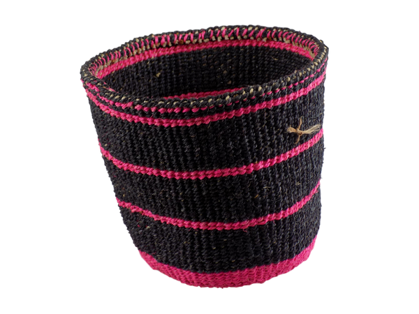Black and Pink Sisal Basket