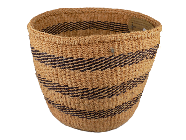 Blue Striped Sisal Basket