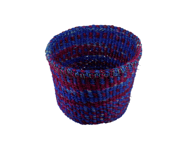 Blue & Red Sisal Basket
