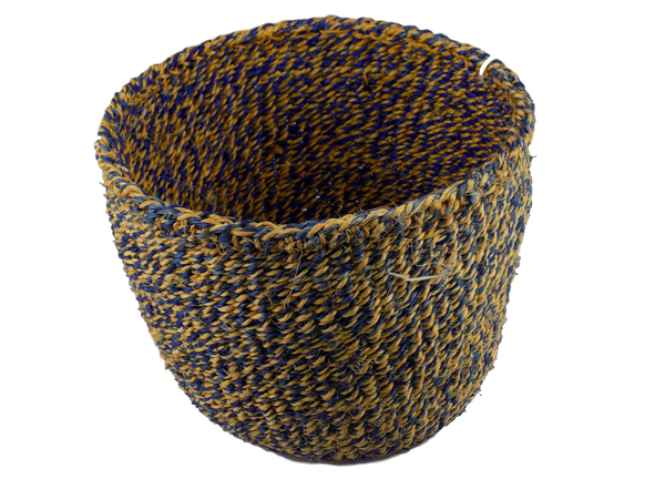 Blue & Yellow Sisal Basket