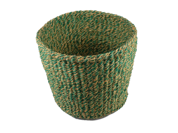 Green & Yellow Sisal Basket