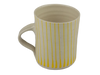 Handmade Wonki Ware Mug - Yellow Stripes