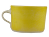 Handmade Wonki Ware Squat Mug - Yellow Wash