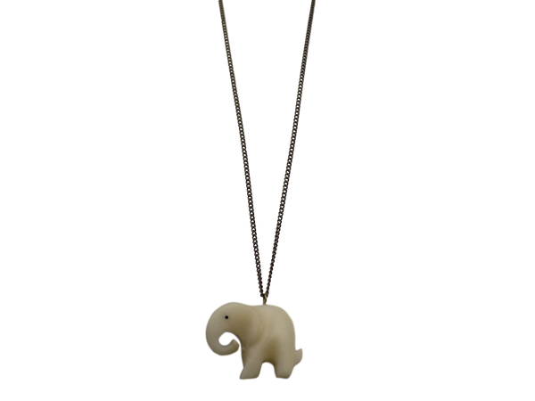 Elephant Bone Figurine Necklace