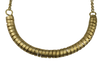 Long Brass Coil Necklace