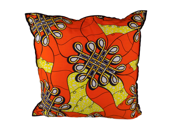 Orange and Yellow Malawian Cushion