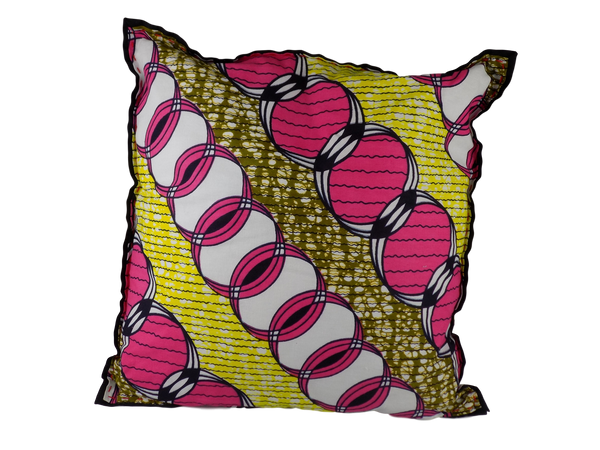 Pink and Yellow Malawian Cushion