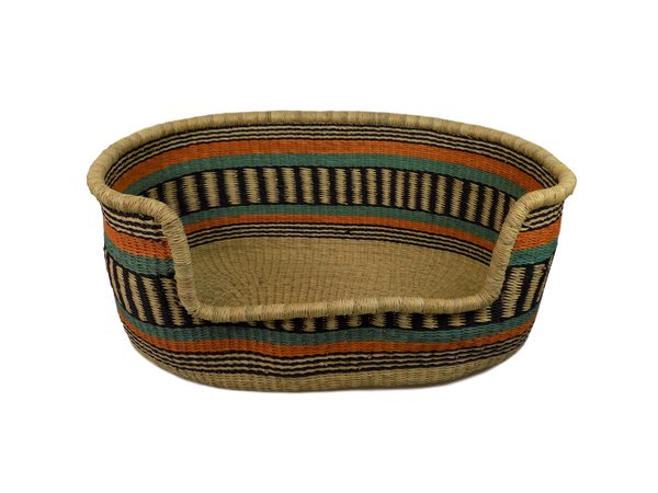 Handmade Woven Dog Basket from Ghana