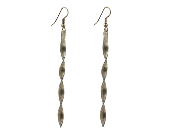 Twisted Silverplate Brass Earrings