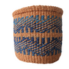 Extra Small Blue and Natural Handmade Kenyan Basket