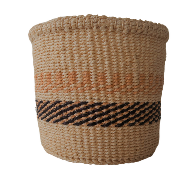 XS Black, Natural and Cream Handmade  Kenyan Basket