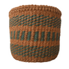 Extra Small Green and Natural Handmade Kenyan Basket