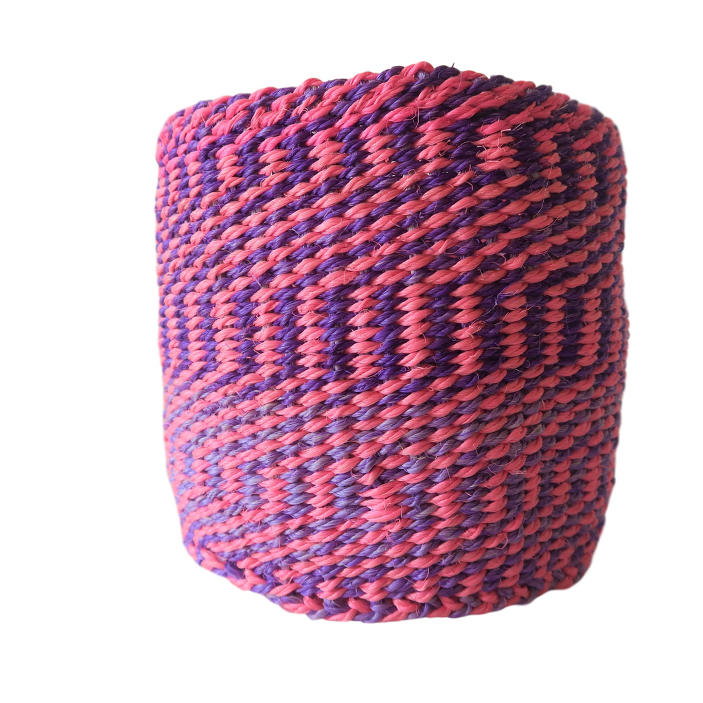 XS Pink and Purple Handmade Kenyan Basket