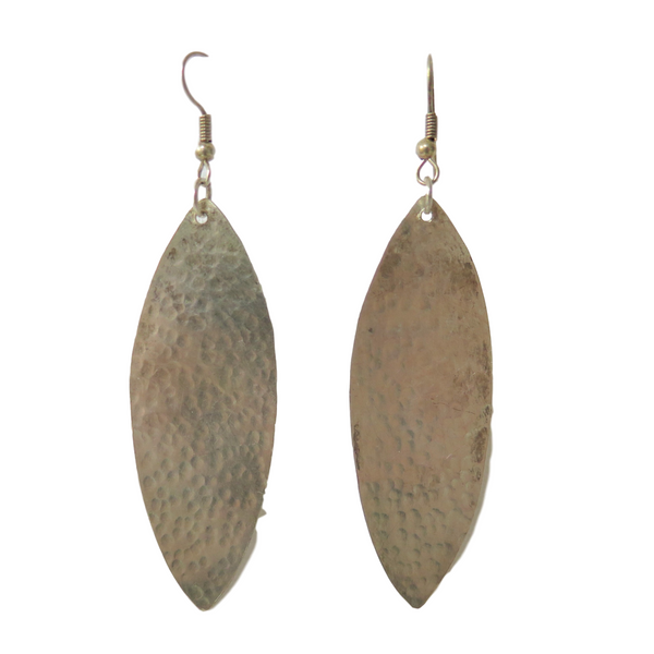 Large Brass Earrings Made in Kenya