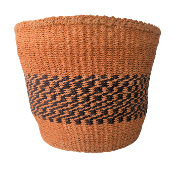 Medium Black and Natural Handmade Kenyan Basket