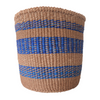 Med Blue and Brown Handmade Kenyan Basket