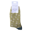 Green Swallow Socks  Size 4 - 7