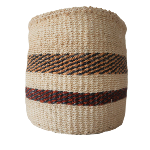 XS Cream, Black and Brown Handmade Kenyan Basket
