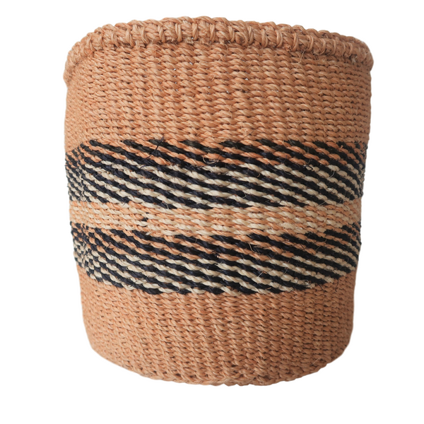 Sm Black, Cream and Natural Handmade Kenyan Basket