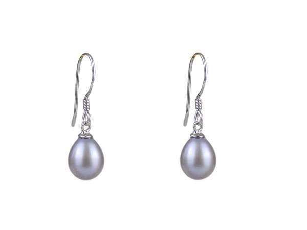 Grey Pearl Sterling Silver Earrings