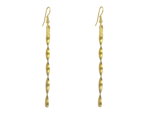 Twisted Brass Earrings