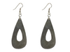 Teardrop Silverplate Brass Earrings