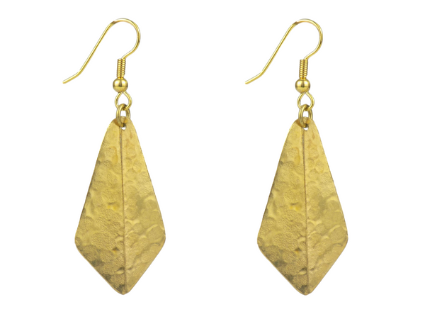Kite Design Brass Earrings