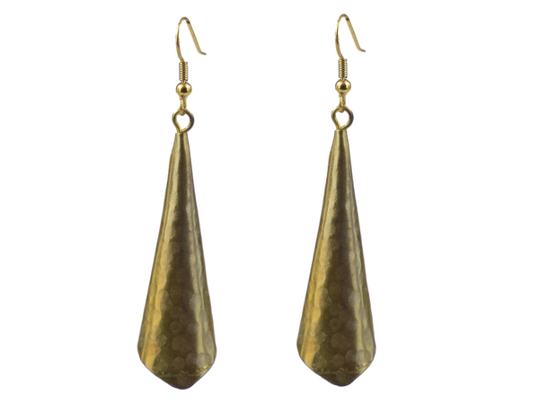 Conical Brass Earrings