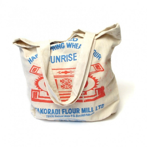 Recycled flour tote bag