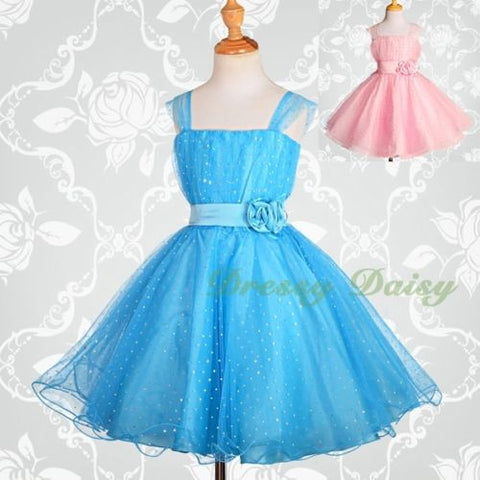 FG031A Girls  Sequined Tulle Pageant Flower Girl Party Dresses Size ... 9b45fd7300c4