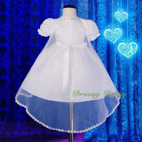15476d4be7ba CN009 Baby Girls  Pearls Embroidered Baptism Christening Gown Dress ...