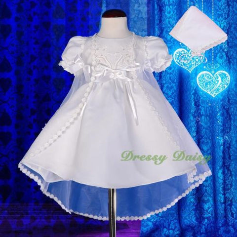 9c457dc41 CN009 Baby Girls' Pearls Embroidered Baptism Christening Gown Dress Wi –  Dressy Daisy