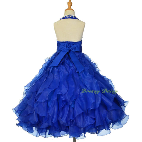 64635b17a1b5 ... FG313 Girls Glitz Rhinestone Sequin Pageant Dresses Ball Gown Party  Dress Size 2-12 ...