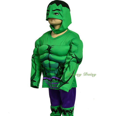 fc033b muscle incredible hulk avenger superhero costume halloween party size 3t 7