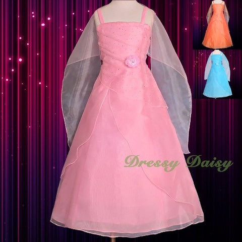Red Victorian Flower Girls Halloween Costume Party Pageant Dress Gown 2-13 Year