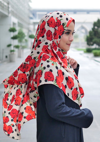 MIKAYLA PRINTED INSTANT SHAWL