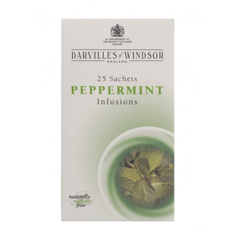 Darvilles of Windsor Peppermint Tag & Envelope Tea Bags - Box of 25