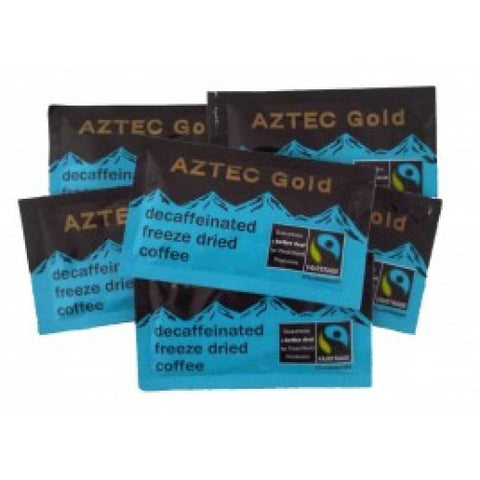 Fairtrade Aztec Gold Decaffeinated Instant Coffee Sachets - Box of 250
