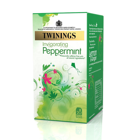 Twinings Peppermint Tag and Enveloped Tea Bags - Box of 20