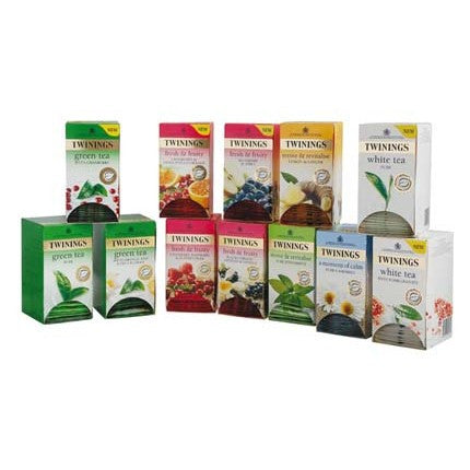 Twinings Herbal Tea Variety Pack - 12 Boxes of 20 Tea Bags