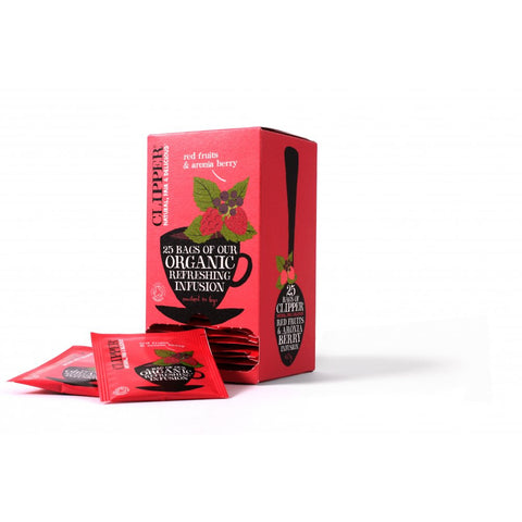 Clipper Organic Infusions Red Fruits and Aronia Berry 25 Tea Bags