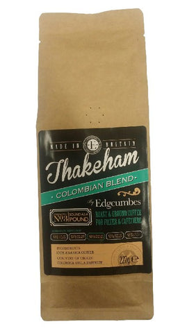 Edgcumbes Thakeham Blend Ground Coffee for Filter and Cafetiere - 227g